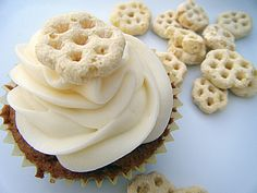 Cereal Cupcake Roundup from Cupcakes Take the Cake (shown: Honeycomb cupcake from Ingredients of a 20-Something)