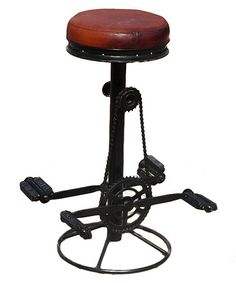Take a look at this Industrial Pedal Stool by Seven Wonders Furniture on #zulily today!