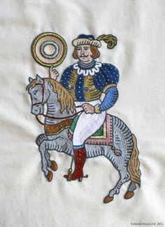 Man-on-horseback.jpg 「馬上の人」ヨーロッパの古いトランプを参考に
