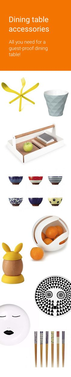 Plates, glasses, cups, trays, jugs: renew your dining table ! #table #design #accessories