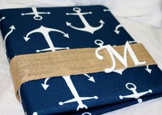 WEDDING GUEST BOOK  Anchor Nautical Wedding Guest Book by itsmyday