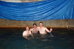 having a bath in Vardzia