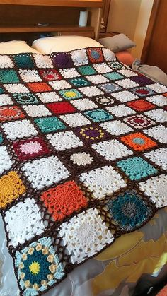I just finished my scrap afghan. Cheryl Walling
