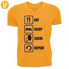 Sherlock Holmes Inspired Eat Sleep Solve Repeat Men's V-Neck T-shirt XX-Large (*Partner-Link)