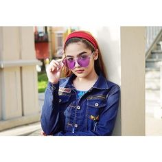 Sunnies from photo by New Girl Style, Espanto, Filipina Actress, Girl Fashion, Womens Fashion, Girl Crushes, My Idol, Sunnies, Round Sunglasses