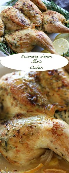 Rosemary Lemon Garlic Chicken recipe is special enough for a Holiday and easy enough for a weeknight. Special prep method allows for a deeper infusion of aromatics and makes the leftovers taste even more delectable. http://www.thefedupfoodie.com