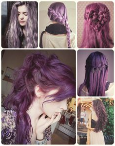 purple and violet hair color for long hair with cheap clip in hair extensions