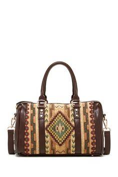 Street Level Aztec Printed Handbag