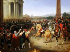 Hippolyte Lecomte: Entry of the French Army in Rome.  General Berthier at the head of the army, 15 February 1798