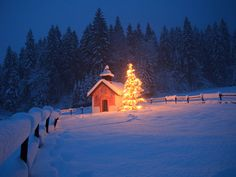 Photos of Churches in the Snow - Best Christmas Photos - Country Living