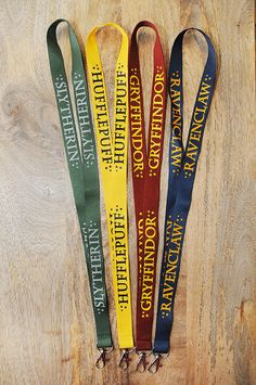NEW DESIGNS  Wizard House Lanyards your choice. by TheColorfulGeek