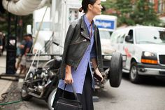 The NYFW Street-Style Looks That Truly Stunned #refinery29  http://www.refinery29.com/2014/09/73987/new-york-fashion-week-2014-street-style-photos#slide31  Crisp, clean layers.