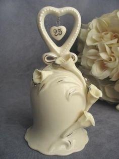25th Anniversary Wedding Bell Figurine