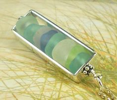 GENUINE Sea Glass Necklace In Sterling Silver by seaglassgems4you, $48.00