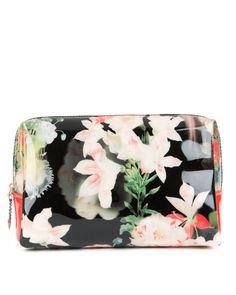 Large Opulent Bloom wash bag - Black | Gifts for her | Ted Baker NEU