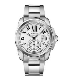 Cartier  Calibre Automatique watch, 42mm, in steel. Manufacture mechanical movement with automatic winding