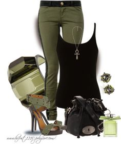 """* MILITARY GREEN *"" by hrfost1210 on Polyvore"