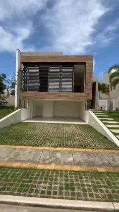 Modern Small House Design, Modern Exterior House Designs, Latest House Designs, Design Your Dream House, Home Interior Design, Exterior Design, Exterior Colors, Village House Design, Bungalow House Design