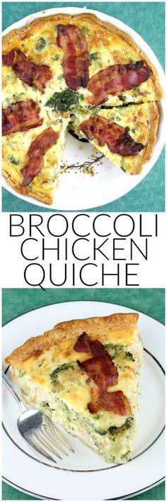 Broccoli, Chicken & Bacon Quiche
