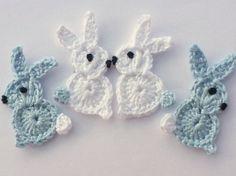 🐇 Aplique de Coelhos da Páscoa em Crochê - /  🐇 Apply in Easter of Rabbits to Crochet -