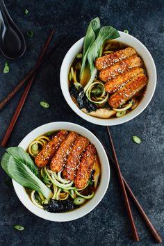 Vegan zucchini noodl