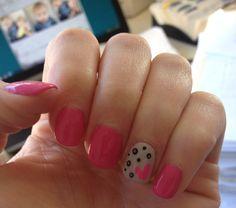 Pink and polka dots shellac Hollywood Hair, Shellac, Hair Designs, Pedi, Nails, Polka Dots, Finger Nails, Hair Models, Ongles