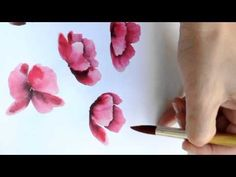 Poppy using Watercolors by Susan Scheewe video by ArtistSupplySource.com - YouTube