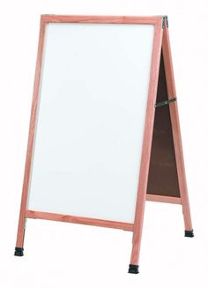 A-5. A-Frame Sidewalk Board. A-Frame Sidewalk Board Features a White Melamine Markerboard and Solid Red Oak Frame with a Clear Lacquer Finish