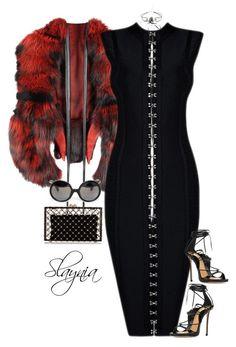 Widow by slaynia on Polyvore featuring polyvore moda style Dsquared2 Charlotte Olympia Yohji Yamamoto fashion clothing