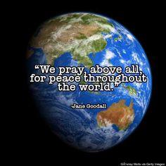 Beside The Creek: Jane Goodall - praying for peace