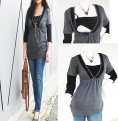 LACEY Maternity Clothing/ Nursing Top by ModernMummyMaternity, $33.00