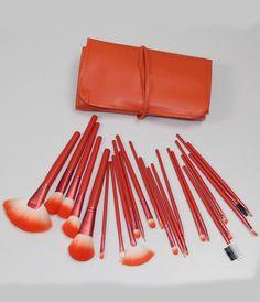 24pcs Pro Makeup Brushes Cosmetic Make Up Brush Set with Bag-Orange 14.33