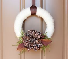 Safari  Handmade Yarn Wreath by wreathology on Etsy, $28.00