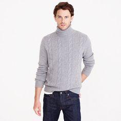 J.Crew+-+Italian+cashmere+cable+turtleneck+sweater