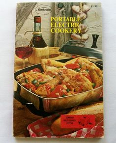 Sunbeam Portable Electric Cookery 1970 PB (82914-1062) vintage cookbook - $2.75