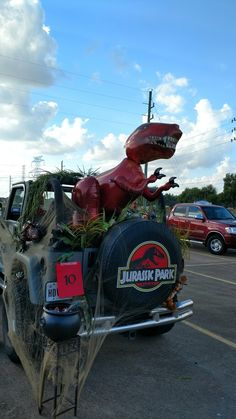 Our Jurassic Park theme Trunk or Treat Jeep #jeeplife #trunkortreat
