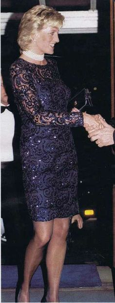 """February 1, 1996: Princess Diana at the performance of """"La Bohemme"""" opera in aid of the British Lung Foundation at Royal Albert Hall in London."""