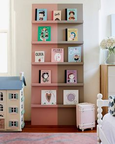 The Cottage Woollahra — Phoebe Nicol Interior Architecture Dark Wood Nursery, Dark Wood Furniture, Kids Library, Nursery Furniture, Kids Decor, Kids Bedroom, Floating Shelves, Interior Architecture, Room Decor