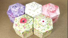 Hexagon Gift Box and Lid Origami Tutorial, 육각상자접기