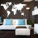 World Map Bedroom Wall Decal