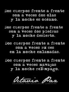 Octavio Paz 2 cuerpos distintos desenlaces