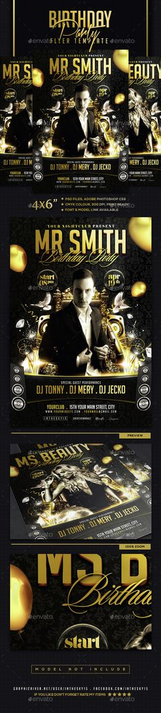 Birthday Party Flyer Template  download psd here : http://graphicriver.net/item/birthday-party-flyer-template/15182218  #deluxe #birthday #party #luxury #golden #dj #advertising #celebratiion #invitation #special #flyer #black #balloon #elegante #vip #lounge