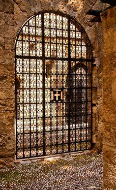 Gate to the Knight's Templar hospital, Rhodes Island, Greece