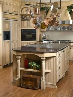 Repainted Antique White Kitchen Cabinets | ... Kitchens - Traditional - Off-White Antique Kitchen Cabinets (Page 3