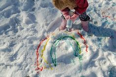 Snow paint.