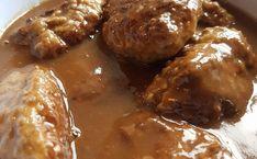 Mor's kjøttkaker – Fru Haaland Pretzel Bites, Chicken Wings, Crockpot, Food And Drink, Beef, Ethnic Recipes, Meat, Healthy Slow Cooker, Crock Pot