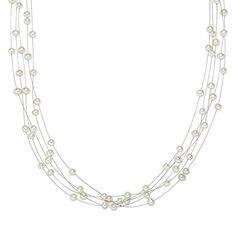 Valero Pearls Classic Collection Damen-Kette Hochwertige Süßwasser-Zuchtperlen in ca.  4 mm Oval weiß 925 Sterling Silber    43 cm   400310 - http://schmuckhaus.online/valero-pearls-12/valero-pearls-classic-collection-damen-kette-in-4