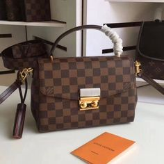 2ab6f45e2d6 Louis Vuitton Damier Ebene Canvas Croisette Bag N53000 Louis Vuitton  Crossbody Bag, Louis Vuitton Handbags
