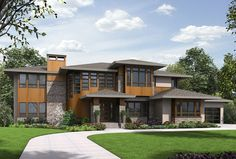 Above and Beyond IV - 23620JD | Contemporary, Modern, Northwest, 2nd Floor Master Suite, Bonus Room, Butler Walk-in Pantry, CAD Available, Den-Office-Library-Study, In-Law Suite, PDF, Corner Lot | Architectural Designs