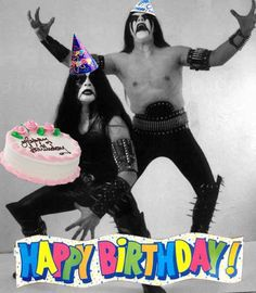 One of the best happy birthday pictures ever! With a inspiration for those who 're into they feel me! Horns up \m/ Happy Birthday Black, Happy Birthday Meme, Happy Birthday Pictures, Happy Birthday Greetings, Birthday Quotes For Me, Birthday Messages, Birthday Cards, 21 Birthday, Black Metal